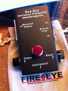 RED-EYE INSTRUMENT PREAMPLIFIER w/Microphone Phantom Power Modification