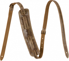 Fender® Vintage-Style Distressed Leather Strap, Brown Oulu