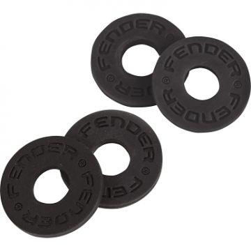 FENDER STRAP BLOCKS (4 PACK), BLACK/BLACK
