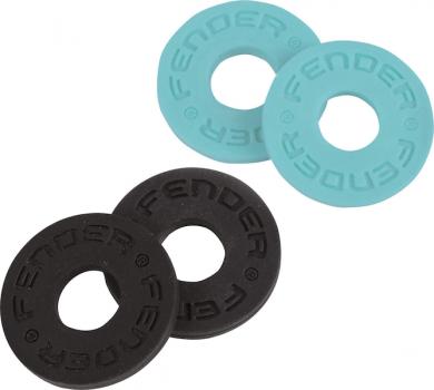 FENDER STRAP BLOCKS (4 PACK), BLACK/DAPHNE BLUE