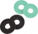 FENDER STRAP BLOCKS (4 PACK), BLACK/SURF GREEN