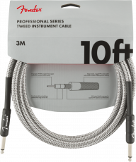 FENDER Professional Series Instrument Cables, 10', White Tweed Oulu