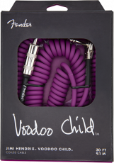 FENDER JIMI HENDRIX VOODOO CHILD COILED CABLE 3OFT PURPLE Oulu