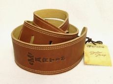 Ball glove leather/suede guitar strap Brownlack)