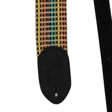 "Martin Acoustic Strap 2"" Woven, Black Leather Ends 18A0066"