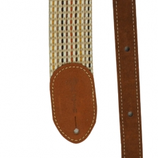 "Martin Acoustic Strap 2"" Woven, Brown Leather Ends 18A0067"