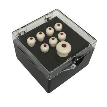 Martin Authentic Series bridge and end pin set (white w/ tortoise inlay)