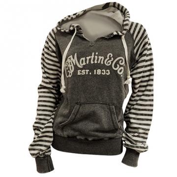Martin Women's Vintage Striped Sleeve Hoodie