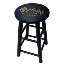Martin black wood bar stool w/logo Oulu