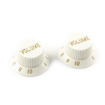 Set of 2 Plastic Volume Knobs for Stratocaster®