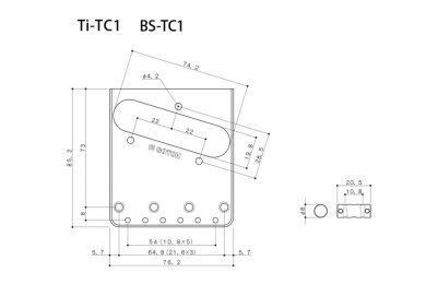 Gotoh BS-TC1 Aged C Bridge for Telecaster®