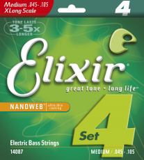 Elixir 45-105 Light/Medium Extra Long Scale