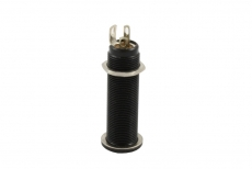 Switchcraft Black Stereo Long Threaded Jack