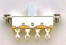 Switchcraft White On-Off-On Slide Switch