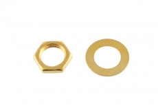 Gold Nut and Washer for USA Pots and Jacks