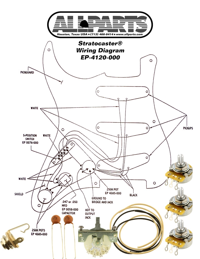 Wiring Kit For Stratocaster