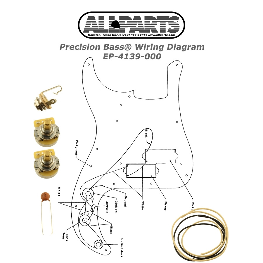 Wiring Kit For Precision Bass Oulu Kitarapaja Switchcraft Input Jack Diagram