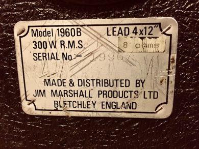 MARSHALL 1960B 4X12 1989