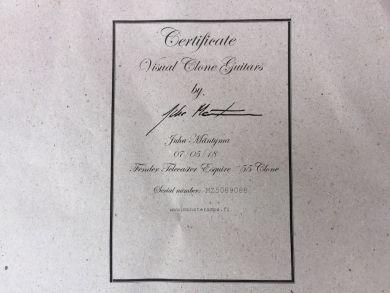 VISUAL CLONE GUITARS TELECASTER ESQUIRE ´55 CLONE