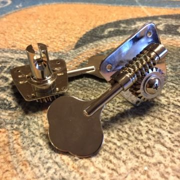 Gotoh 4-in-line Open Gear Nickel Bass Keys, Leftie