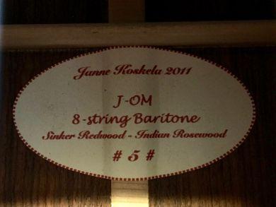 KOSKELA J-OM 8-STRING BARITONE 2011
