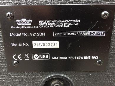 VOX V212BN 2X12 CABINET