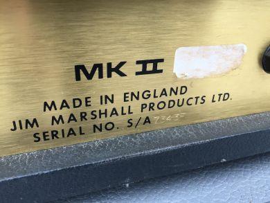 MARSHALL MODEL JMP MK II HEAD 1974