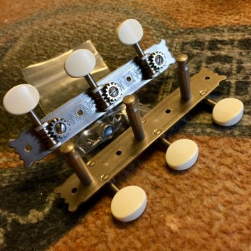 NATIONAL VINTAGE TUNERS, WHITE/ENGRAVED/SOLID