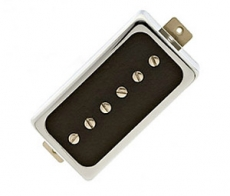 LOLLAR SINGLE COIL FOR HUMBUCKER BRIDGE, NICKEL/GLOSS BLACK