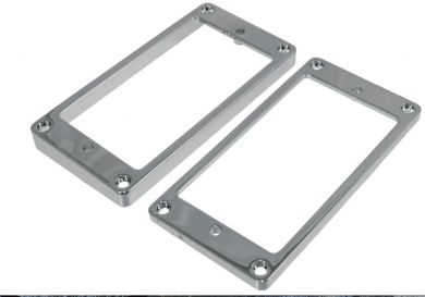 Humbucking Pickup Rings Curved Chrome Set