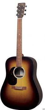 Martin D-X2E Burst Guitar, Vasenkätinen