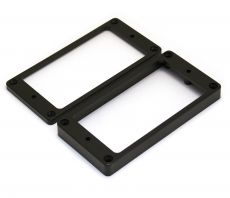 Humbucking Pickup Rings Slanted Black Plastic Set Oulu