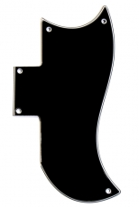 Small Black Pickguard for Gibson® SG®