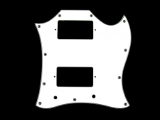 Large White Pickguard for Gibson® SG®