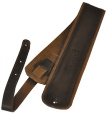 Premium Rolled Leather guitar strap - Black