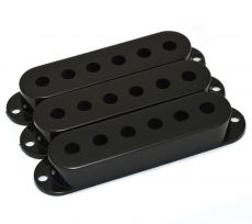 Black Strat Pickup Cover Set