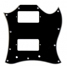 Large Black Pickguard for Gibson® SG® Oulu