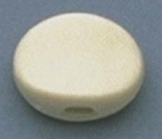Plastic Oval Button, White