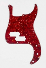Red Tortoise Pickguard for Precision Bass