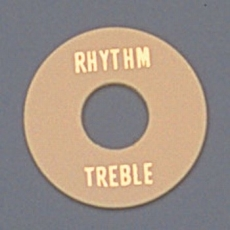 Cream Plastic Rhythm/Treble Ring