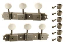 Aged Vintage Style 3x3 Keys Nickel
