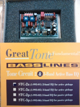 SEYMOUR DUNCAN 2 BAND EQ TONE CIRCUIT FOR ACTIVE PU's